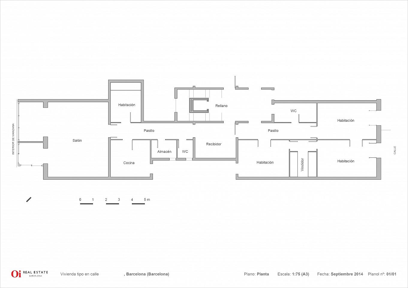 Grundriss des Luxus-Gebäude zum Kauf im Eixample in Barcelona