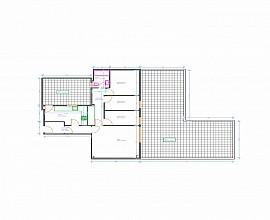 Appartement d'origine avec grande terrasse de 70 m2 à vendre à Barcelone, Galvany