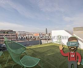 Duplex-Penthaus zum Verkauf mit herrlichem Blick in Poblenou, Barcelona