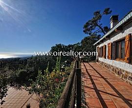 Bonita casa rustica con impresionantes vistas al mar en Sant Cebrià de Vallalta