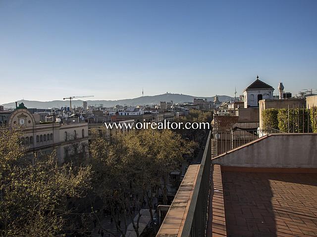 Magnífic pis en venda amb espectacular terrassa davant del Liceu a Les Rambles, Barcelona