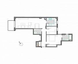 Piso en venta de 2 habitaciones en nueva promoción en Sagrada Familia