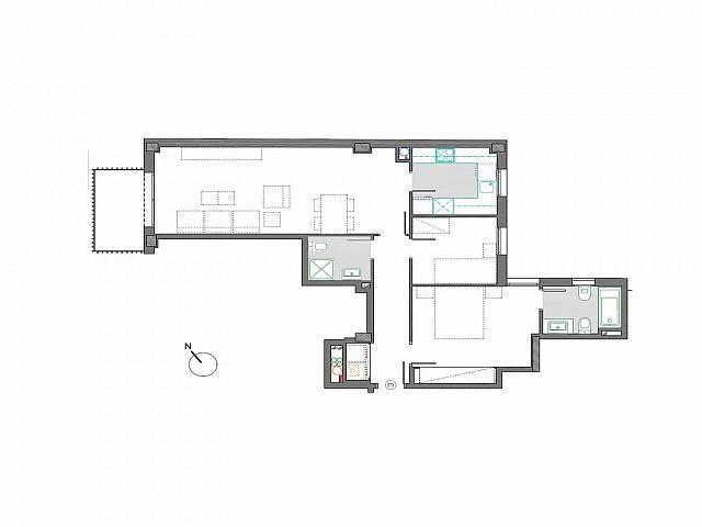 Neue Wohnung von 2 Zimmer zum Verkauf in Sagrada Familia