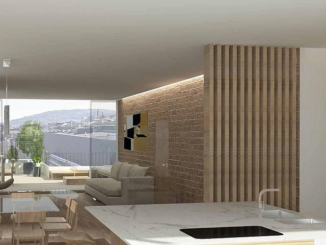 Duplex en attique de luxe en vente sur la Diagonal, Barcelone