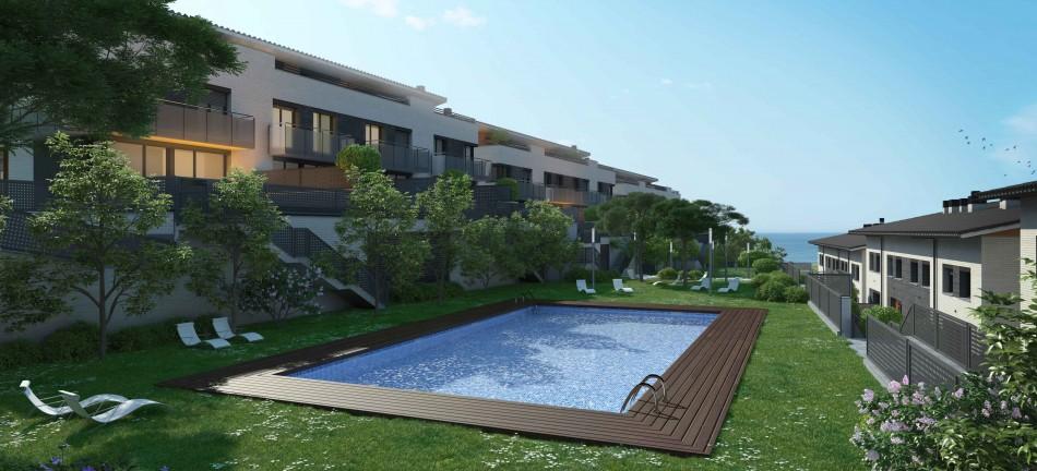 Новый дом с общим бассейном в Тейе, Маресме