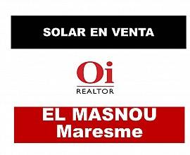 Solar con inmejorables vistas al mar en El Masnou