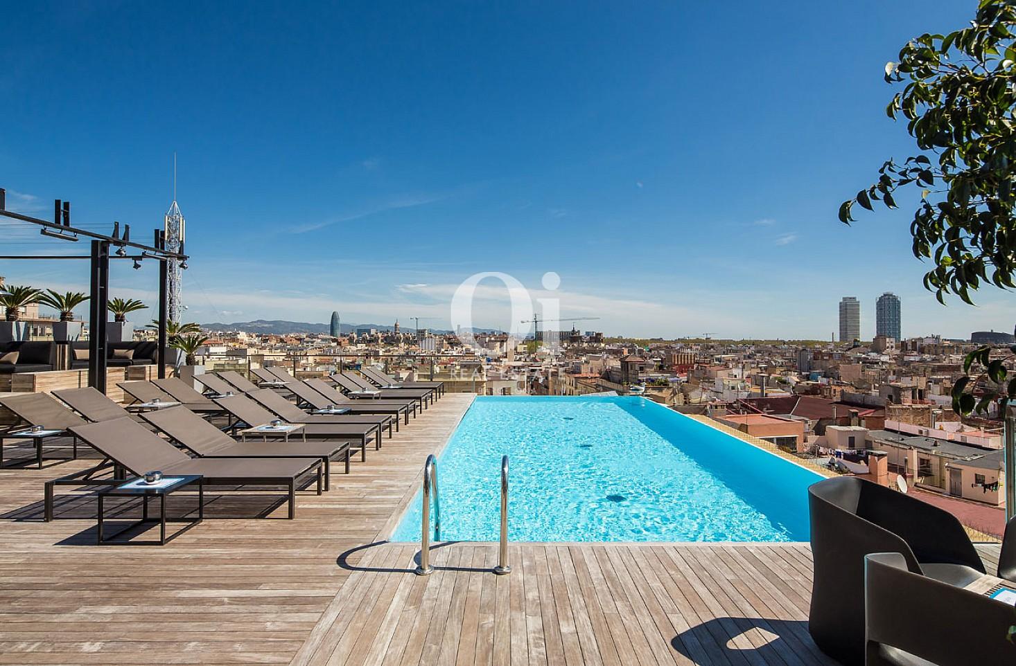 Pool des exklusivem, aktiven Hotel zum Kauf in Barcelona