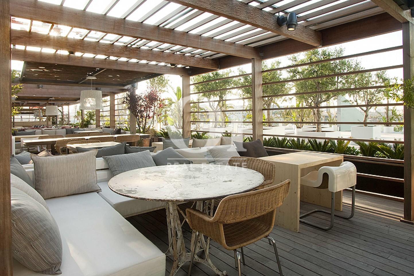 Terrasse in exklusivem, aktiven Hotel zum Kauf in Barcelona