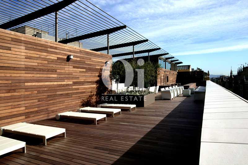 Vista de terraza de hotel en venta en Villa Olímpica de Poblenou, Barcelona