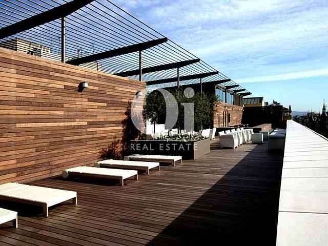 Terasse in exklusivem, aktiven Hotel zum Kauf in Barcelona