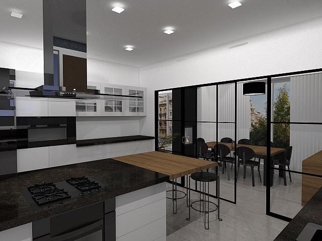 Ampli pis en venda amb orientació a tres vents a la Bonanova, Barcelona