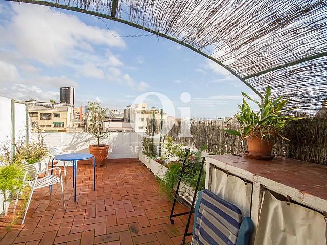 Vista de terraza de dúplex en alquiler en Sant Gervasi, Barcelona