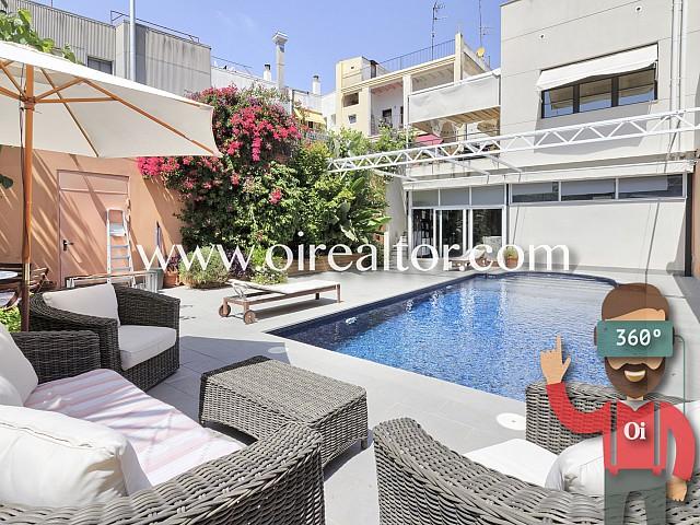 Exclusiva vivienda unifamiliar con piscina en el centro de Vilanova i la Geltrú