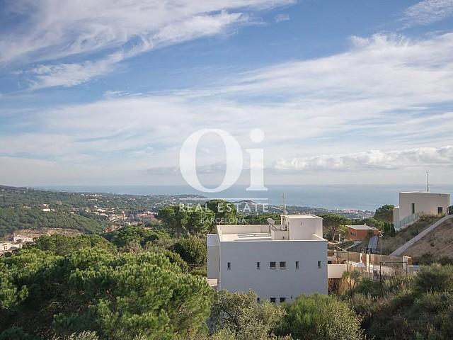 Vistas desde propiedad de lujo en venta en Sant Andreu de Llavaneres