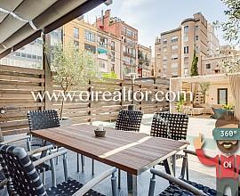 Elegante renovierte Wohnung mit Terrasse von 120 m2 in EIxample Dreta, Barcelona