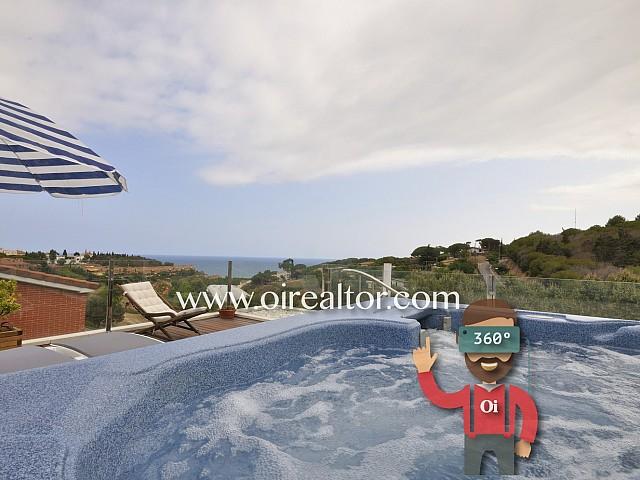 La millor casa de la seva zona, d'elegant disseny i espectaculars vistes a Arenys de Mar.