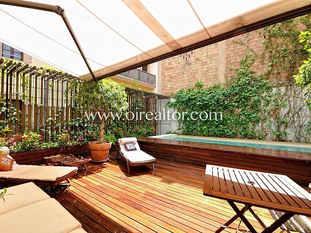 Exclusivo apartamento con terraza en el Centro de Barcelona
