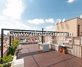 Diáfano y moderno ático con gran terraza en el Quadrat d´Or, Barcelona