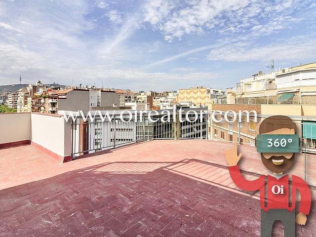Penthouse lumineux avec grande terrasse à Eixample Esquerra, Barcelone