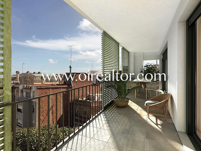Amplio piso de obra nueva en Gracia, Barcelona