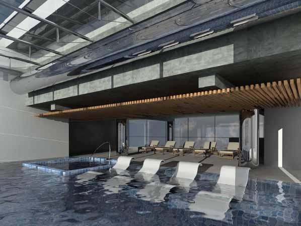 Zona de hamacas de hotel en venta en Barcelona