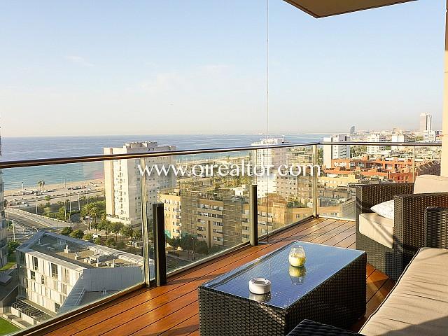 Hervorragende Wohnung zum Verkauf mit Blick aufs Meer in Diagonal Mar, Barcelona
