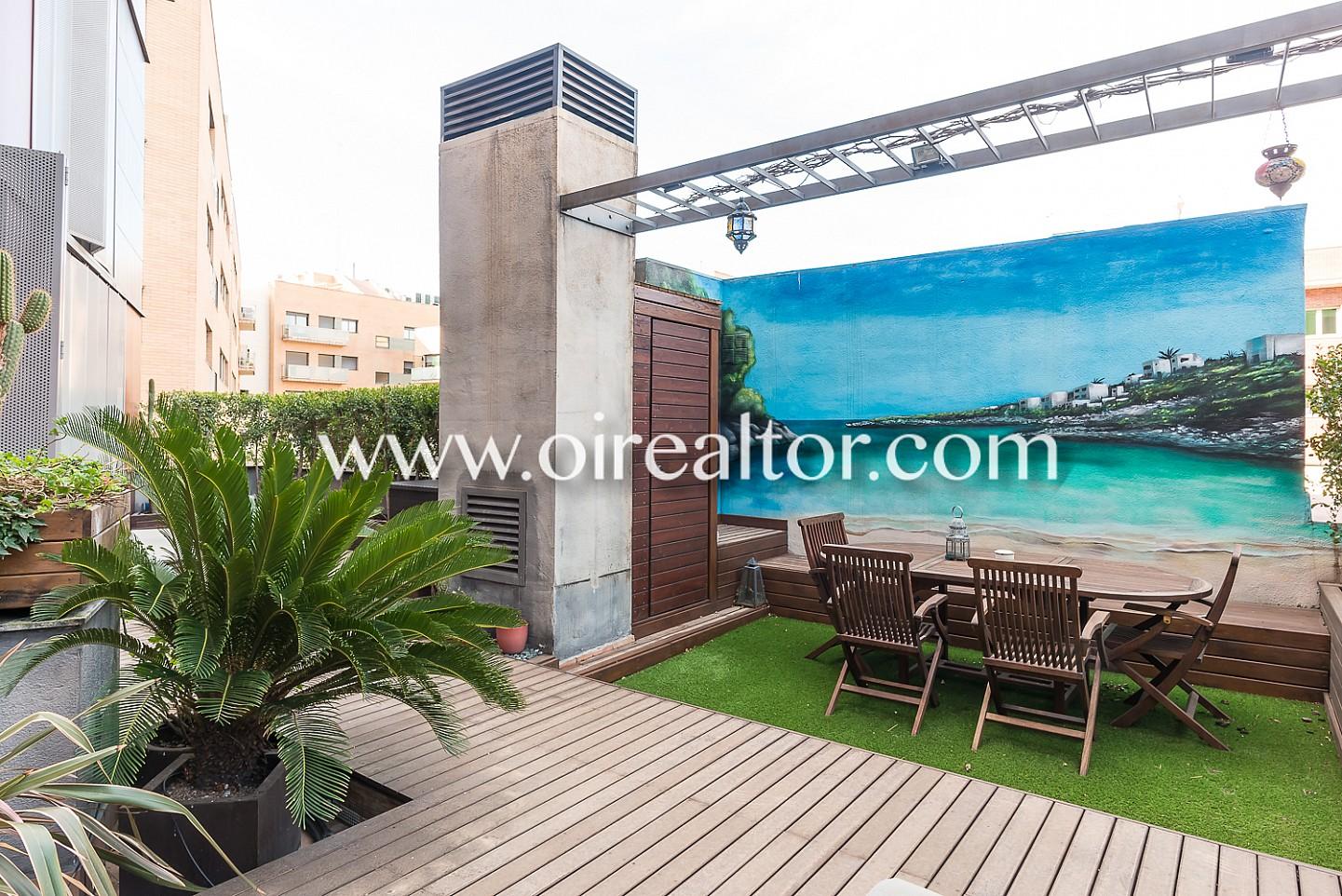 Espectacular tico en venta con gran terraza de 52m en av - Atico terraza barcelona ...