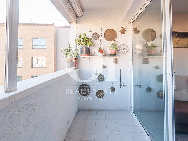Terraza interior de piso en venta en zona de Diagonal Mar, Barcelona