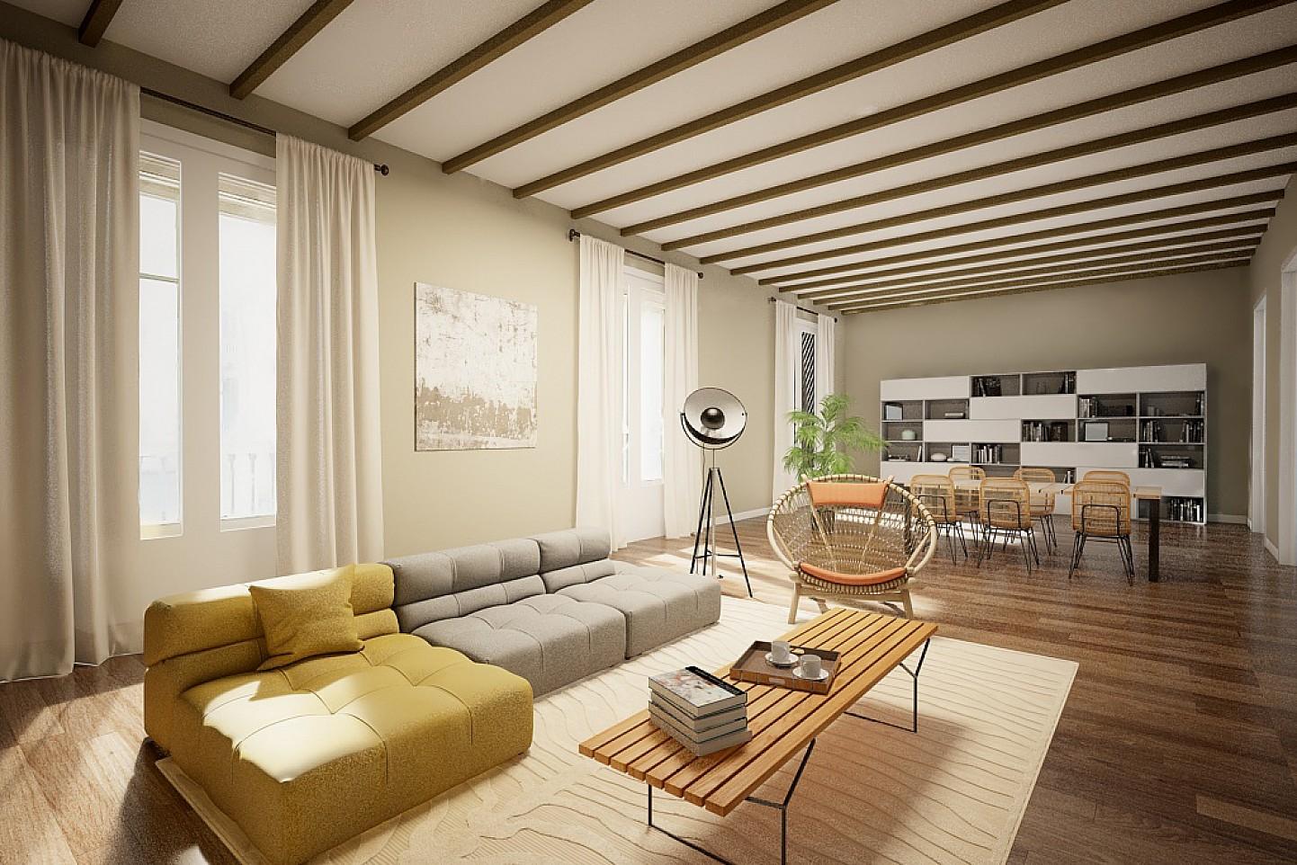Apartamento en venta a reformar en finca regia en el - Finca regia barcelona ...