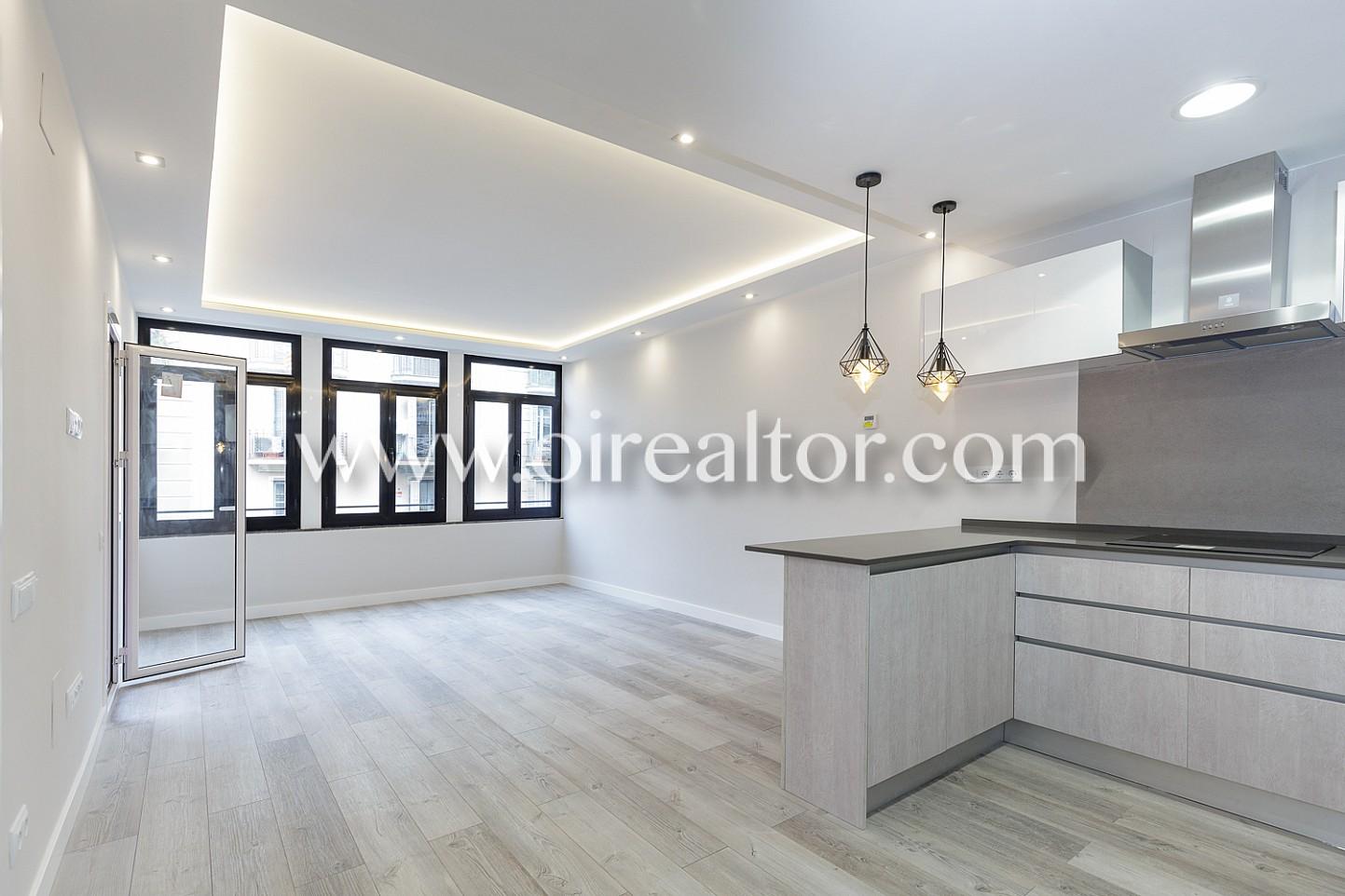 Luminoso piso a la venta para estrenar con una terraza de - Piso eixample barcelona ...
