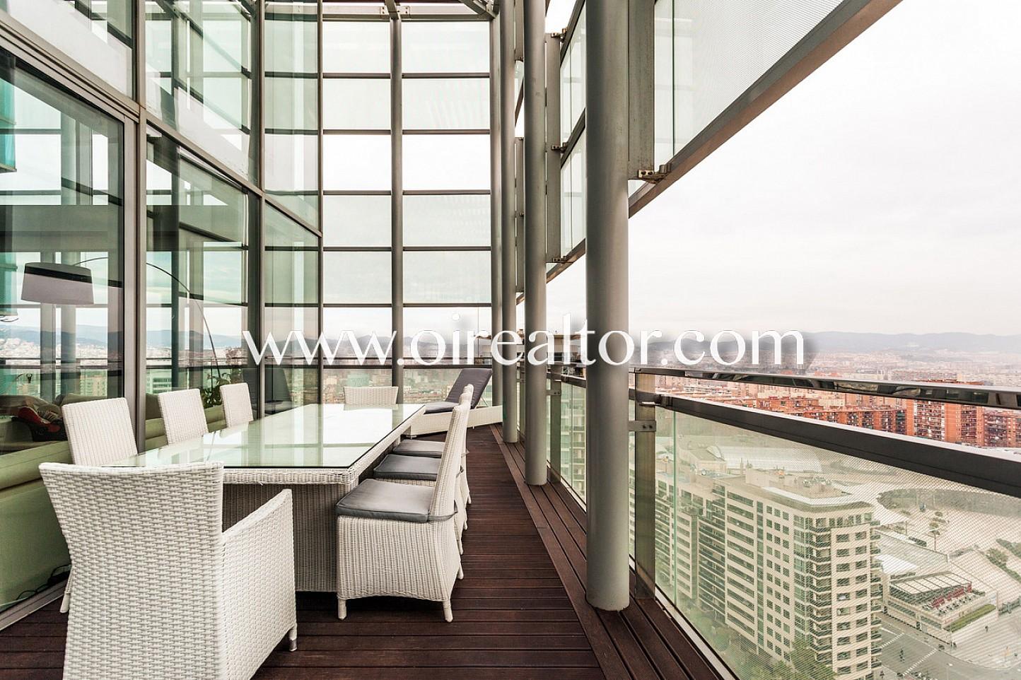 Exclusivo tico duplex en diagonal mar con terraza y - Atico duplex barcelona ...