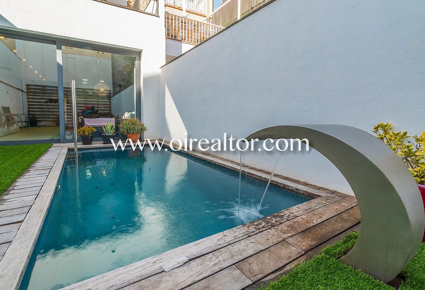 Espectacular casa pareada con piscina en venta en rub - Piscinas abandonadas rubi ...