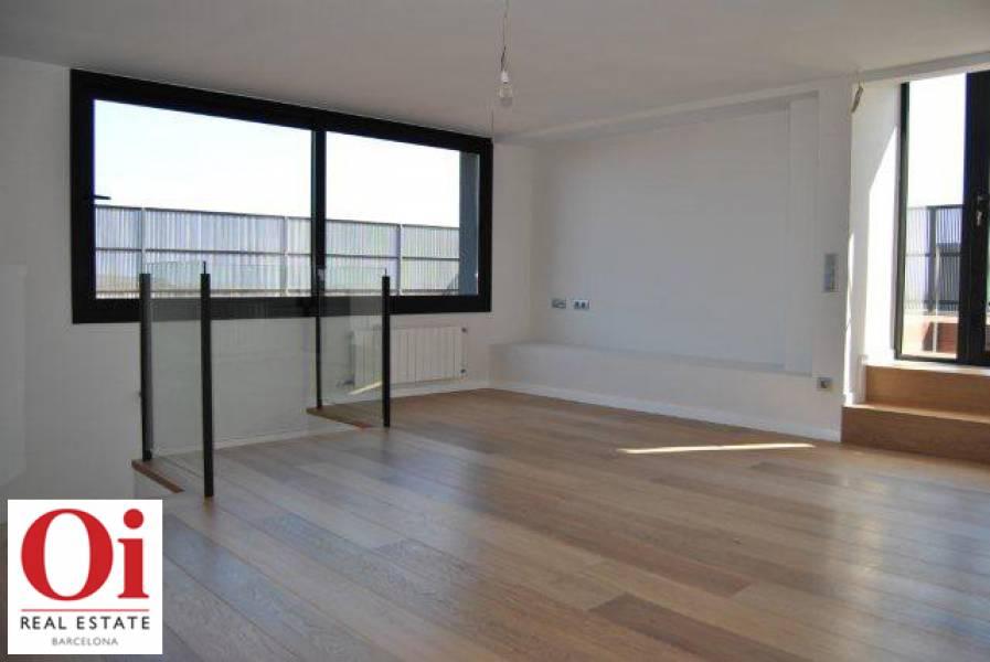 Wunderschöner Wohnbereich im Duplex-Penthouse zum Verkauf in der Ronda General Mitre im Viertel Sarria-Tres Torres