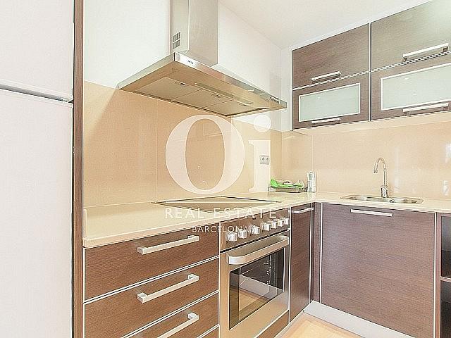 sensacional cocina equipada y americana en lujoso piso en alquiler situado en el raval barcelona (2)