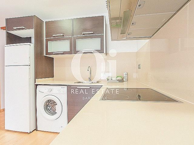 sensacional cocina equipada y americana en lujoso piso en alquiler situado en el raval barcelona (3)