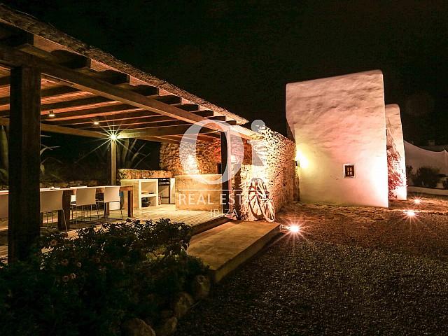 Véranda de villa de séjour à Puig d'en Valls, Ibiza