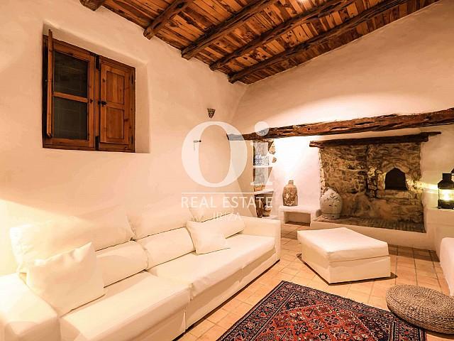 Blick auf einen Wohnbereich der Villa zur Miete Woche, Ibiza