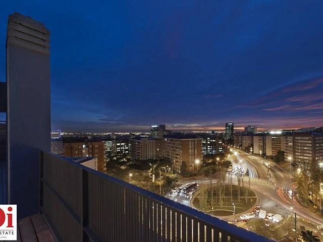 Atemberaubender Ausblick im Duplex-Penthouse zum Verkauf in der Ronda General Mitre im Viertel Sarria-Tres Torres