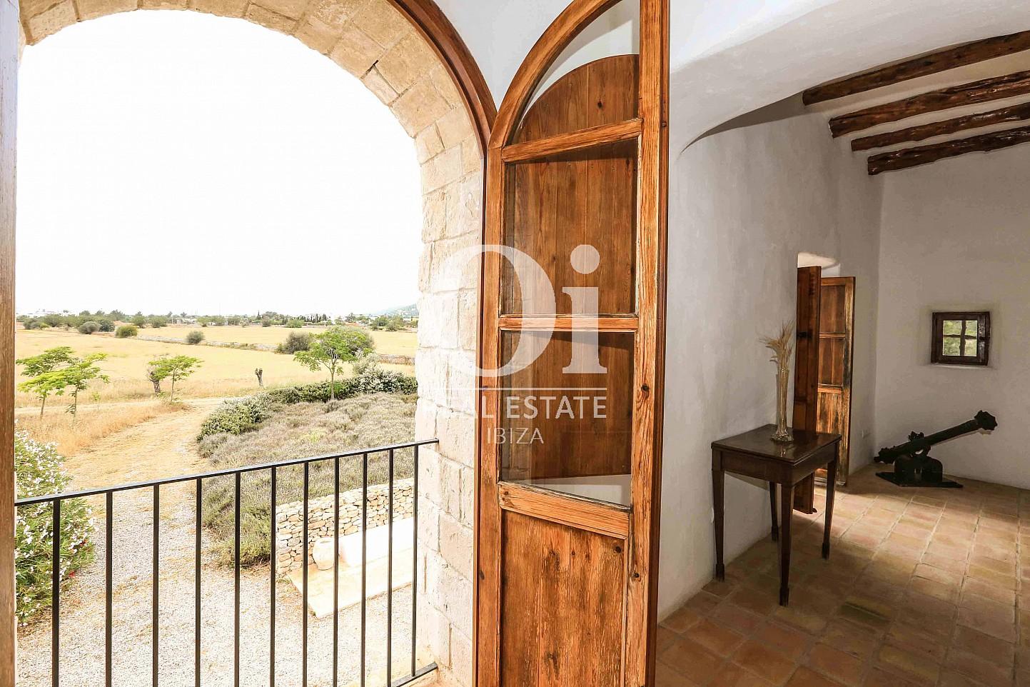 Vistas desde casa de alquiler vacacional en Puig d'en Valls, Ibiza