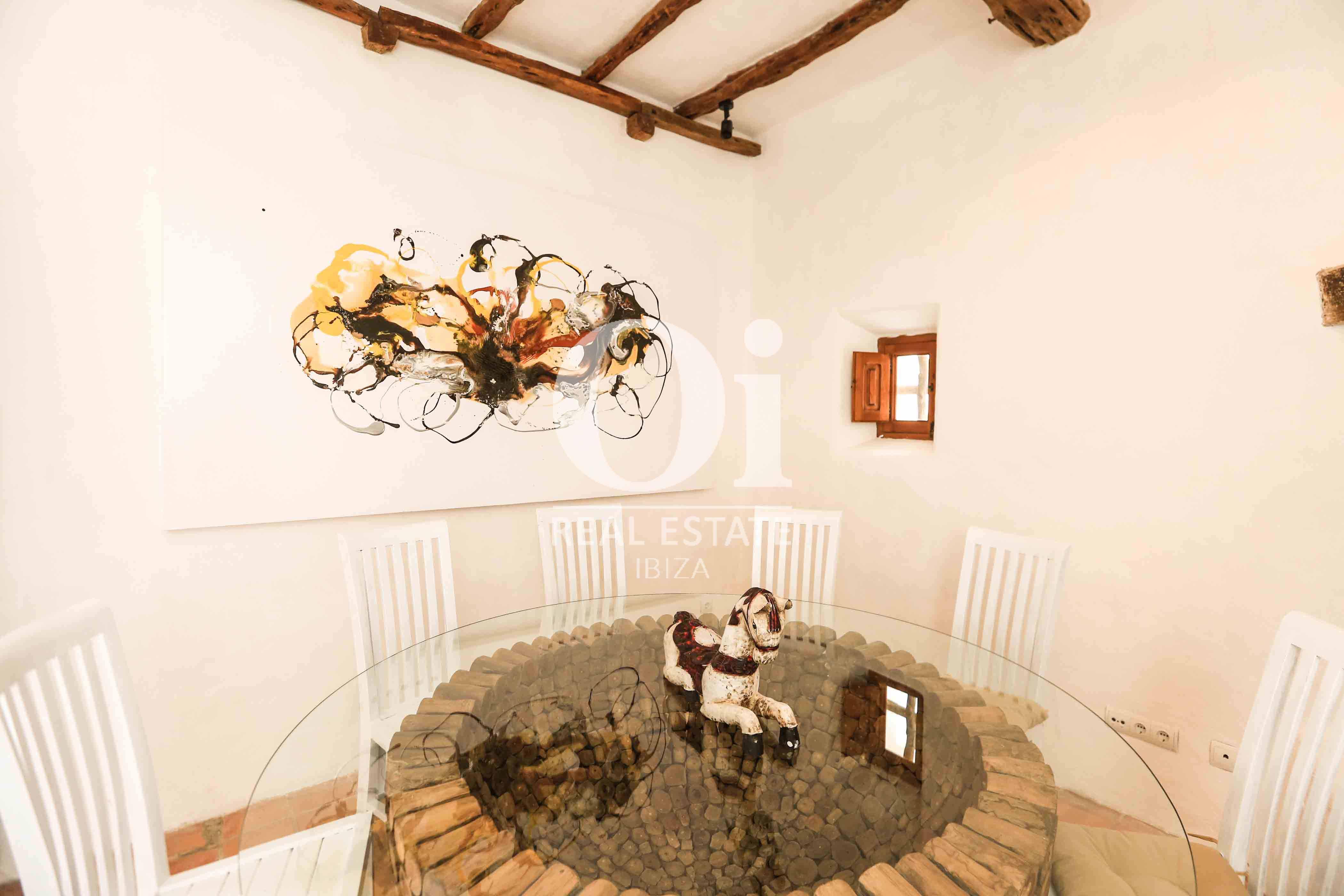 Comedor de casa en alquiler vacacional en zona Puig d'en Valls, Ibiza