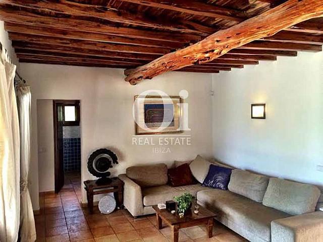 Salón de casa de alquiler de estancia en Sant Rafael, Ibiza