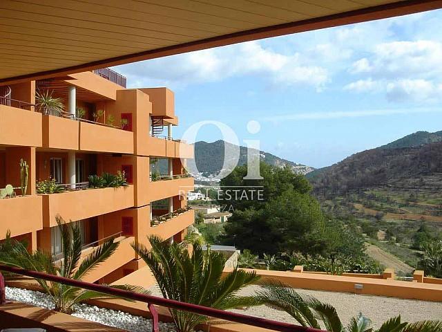Blick von dem Apartment zum Verkauf in Roca Llisa, Ibiza