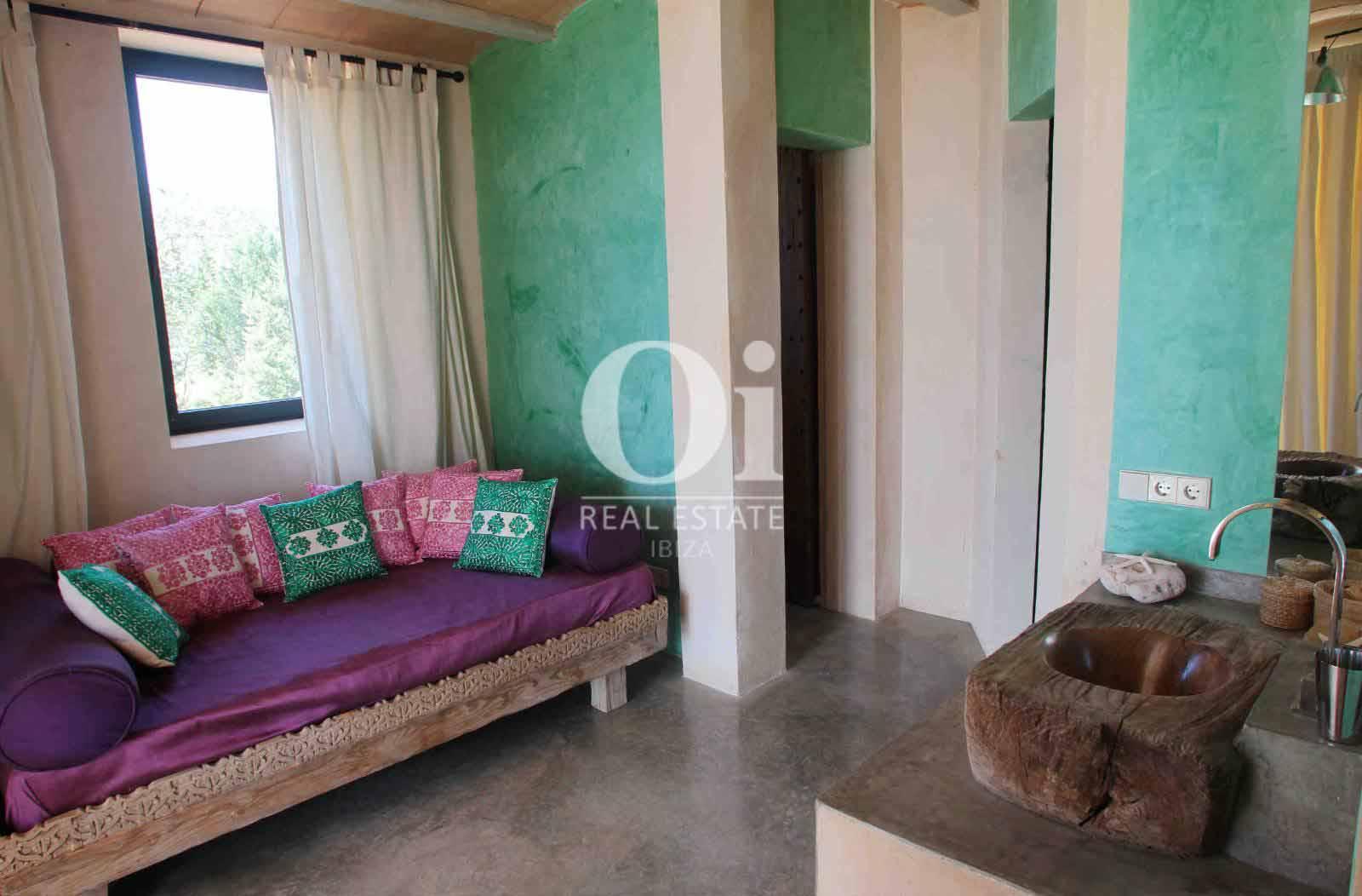 Sala de casa en alquiler de estancia en Es Cubells, Ibiza