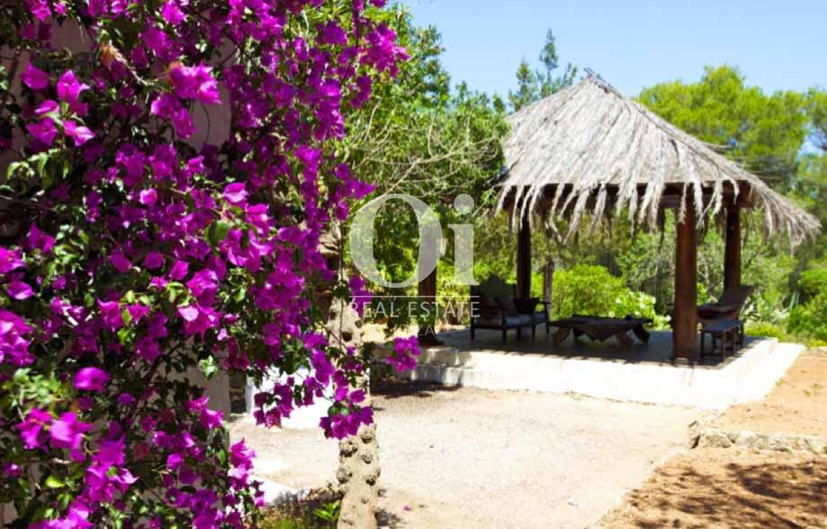 Zona chill out de casa en alquiler de estancia en Santa Gertrudis, Ibiza