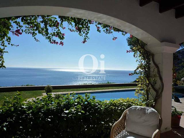 Superbes vues de la mer depuis villa à louer à Es Cubells, Ibiza