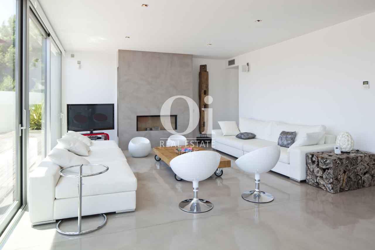 Salon de maison en location de séjour à Es Cubells, Ibiza