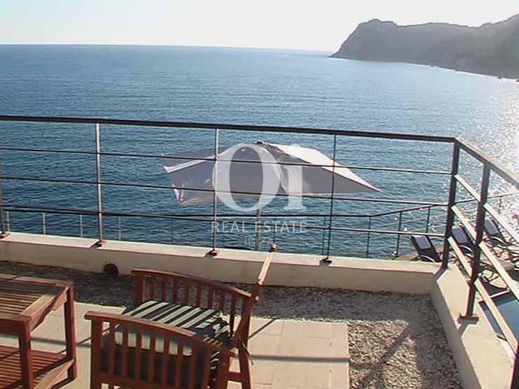 Impresionantes vistas desde casa de alquiler de estancia en Es Cubells, Ibiza