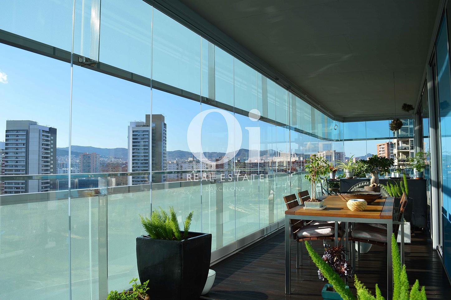 Terrasse et vue panoramique d'appartement à vendre à Diagonal Mar, Barcelone