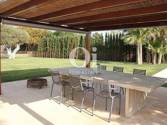 Véranda de maison à louer de séjour à Es Codolar, Ibiza