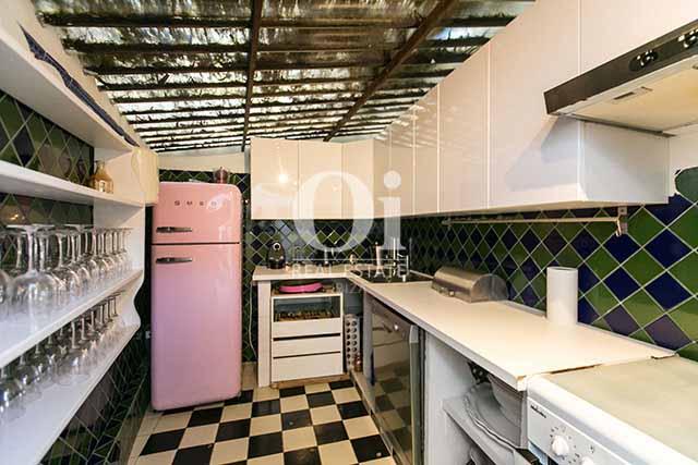 Cocina de magnifico chalet en alquiler en Ibiza